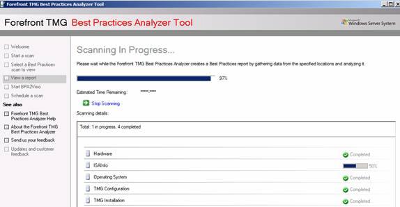 Figure 9: TMG BPA scanning in progress