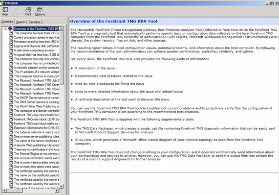 Figure 14: TMG BPA integrated help