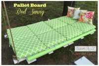 DIY Pallet Board Bed Swing - iSaveA2Z.com