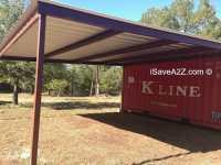 Shipping Container Carport and Storage Idea - iSaveA2Z.com