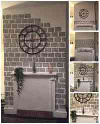 DIY How to Paint a Faux Brick Fireplace Project Idea ...