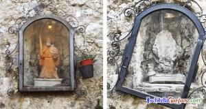 Statua Sant'Elia vandalizzata