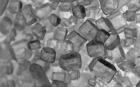 granulated sugar crystals