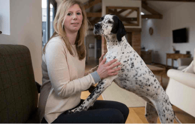 Holly and her pointer, Olive courtesy of The Telegraph