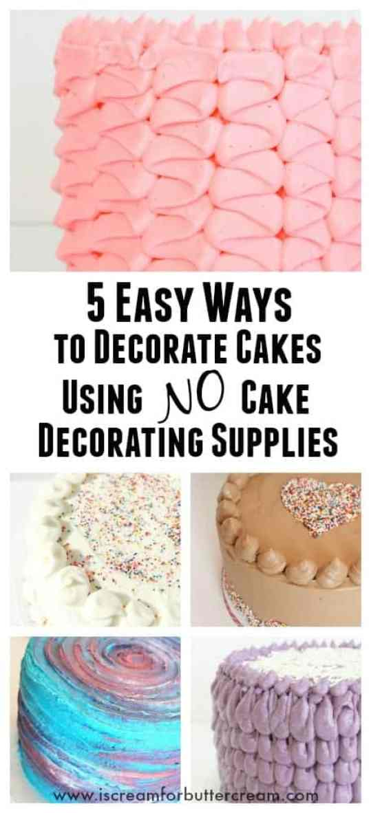 What Supplies Do I Need To Decorate A Cake