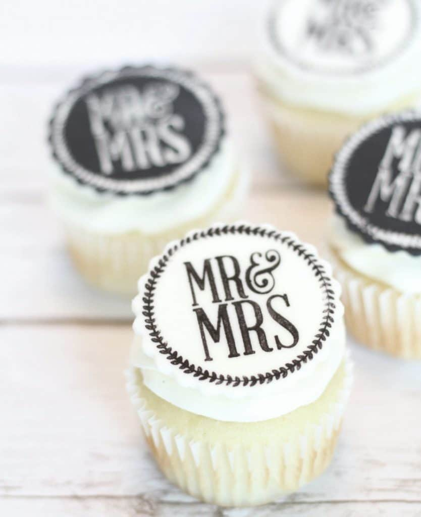 Easy Edible Wedding Cupcake Toppers - I Scream for Buttercream