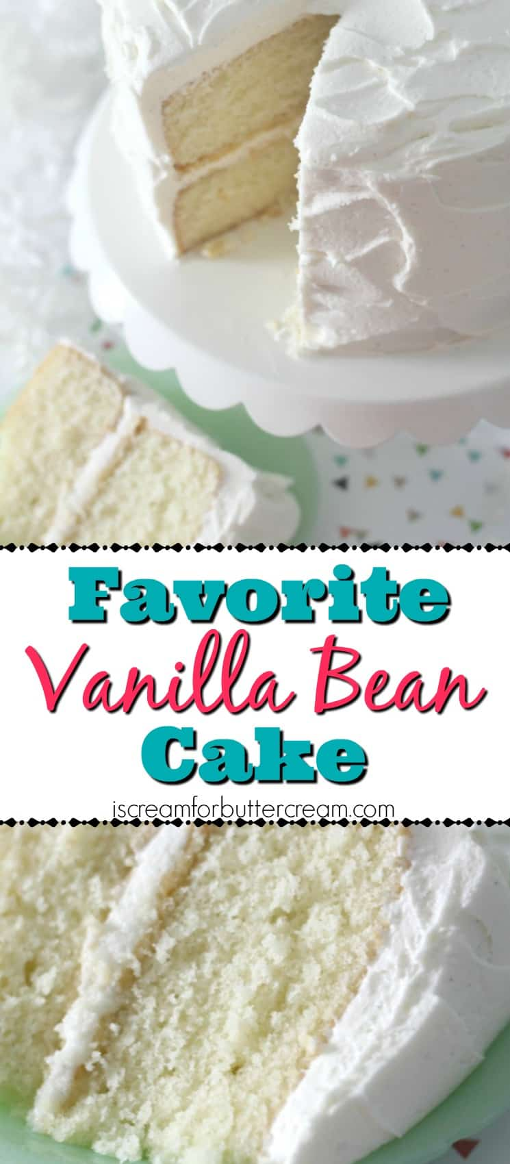 Favorite Vanilla Bean Cake Pinterest Graphic