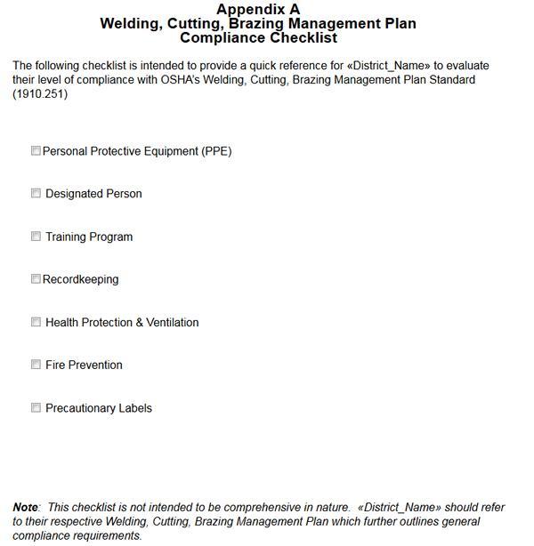 Checklist Maintenance Grounds