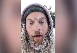 Bart friert ein in Minnesota