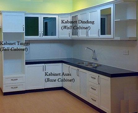 Kombinasi Asas Kabinet Dapur (Kitchen Cabinet)