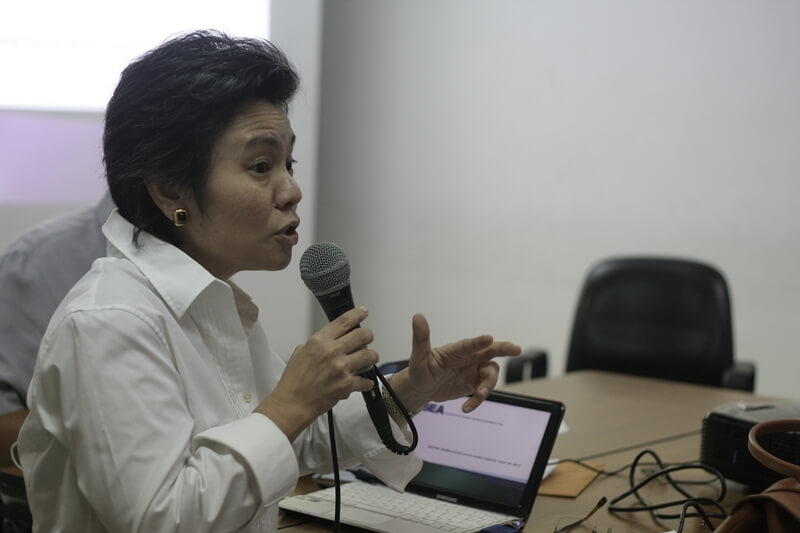ISEA Vice President for Communications Teresa Custodio explains the proposed ISEA Communication and Resource Mobilization Strategy.