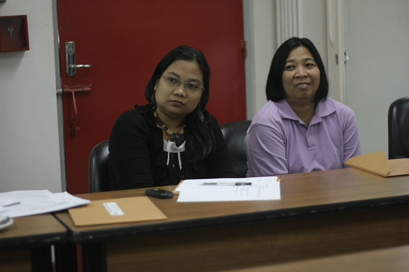 Deputy Executive Director Aileen Penas and Ms. Irene Fernandez represent Atikha and INAFI-Philippines, respectively, during the ISEA GA.