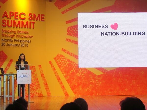 """Ms. Anna Meloto-Wilk talking about Human Nature and its social mission: """"You can do well and do good."""""""