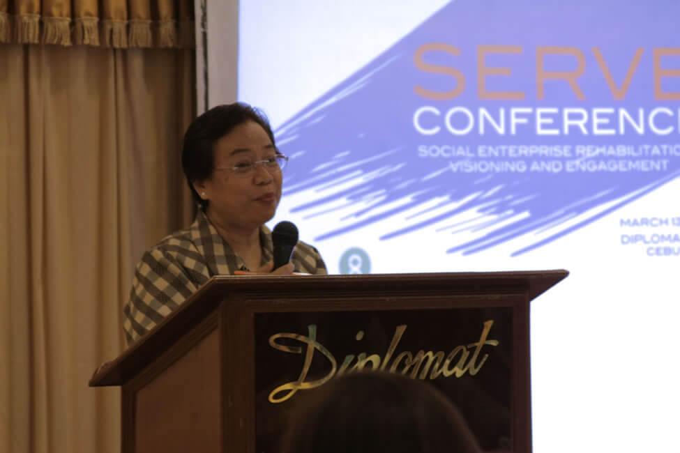 Ms. Renia Salinas, Chief Executive Officer of VICTO National Cooperative Development Center warmly welcomes the participants to Cebu City.