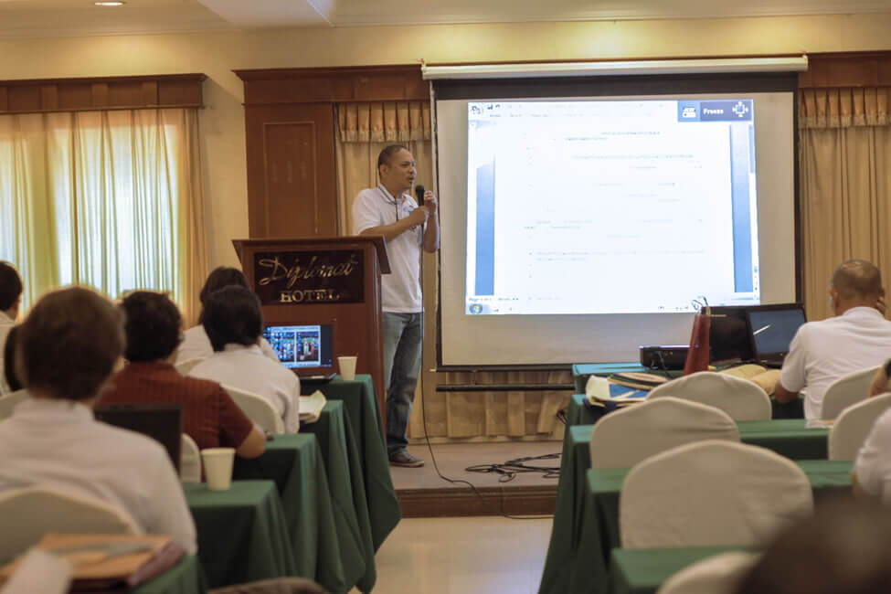 Mr. Pedro Carlos Baclagon, Area Manager for Visayas of the Foundation for a     Sustainable Society, Inc. (FSSI), presents the revised SERVE Conference Declaration based on the suggested changes of the workshop groups.