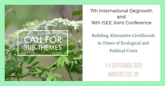 The 7th International Degrowth and 16th ISEE Joint Conference