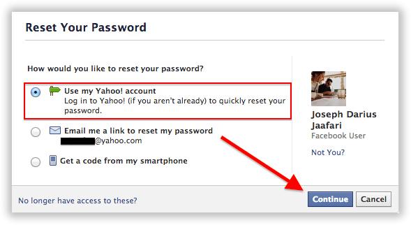 use my yahoo password