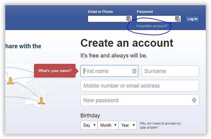 create an account on facebook