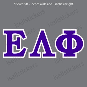 Epsilon Lambda Phi Standard Car Window Decal Bumper Sticker
