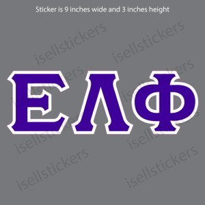 Lee University Epsilon Lambda Phi Old School Window Bumper Sticker Car Decal