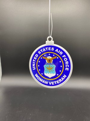 Air Force Woman Female Veteran Christmas Tree Ornament