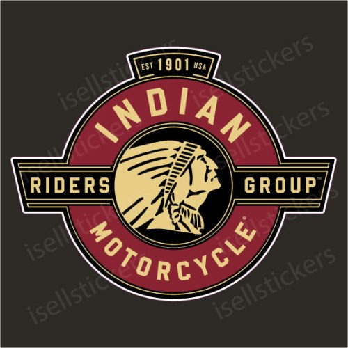 Indian Motorcycle Riders Group Decal Sticker