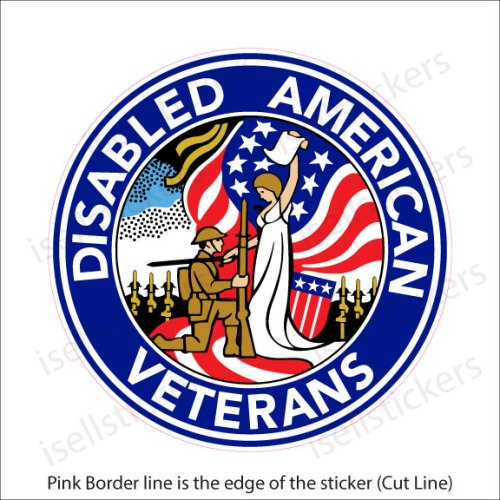 DAV Disabled American Veterans Military Decal Sticker