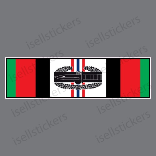 Afghanistan Campaign Service Ribbon with Knife Veteran Military Decal Sticker