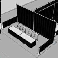 10 FOOT X 20 FOOT PIPE DRAPE BOOTH Rentals Portland OR ...
