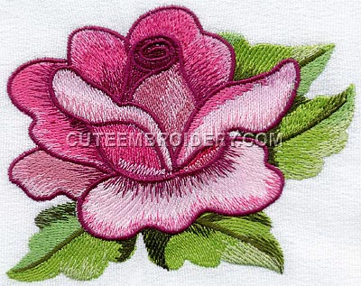 free embroidery design rose