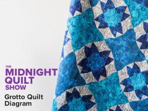 Free Quilt Pattern: Grotto Quilting Diagrams – Midnight