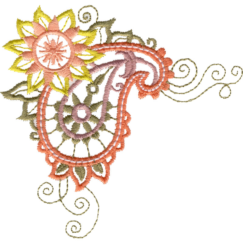 free embroidery design paisley