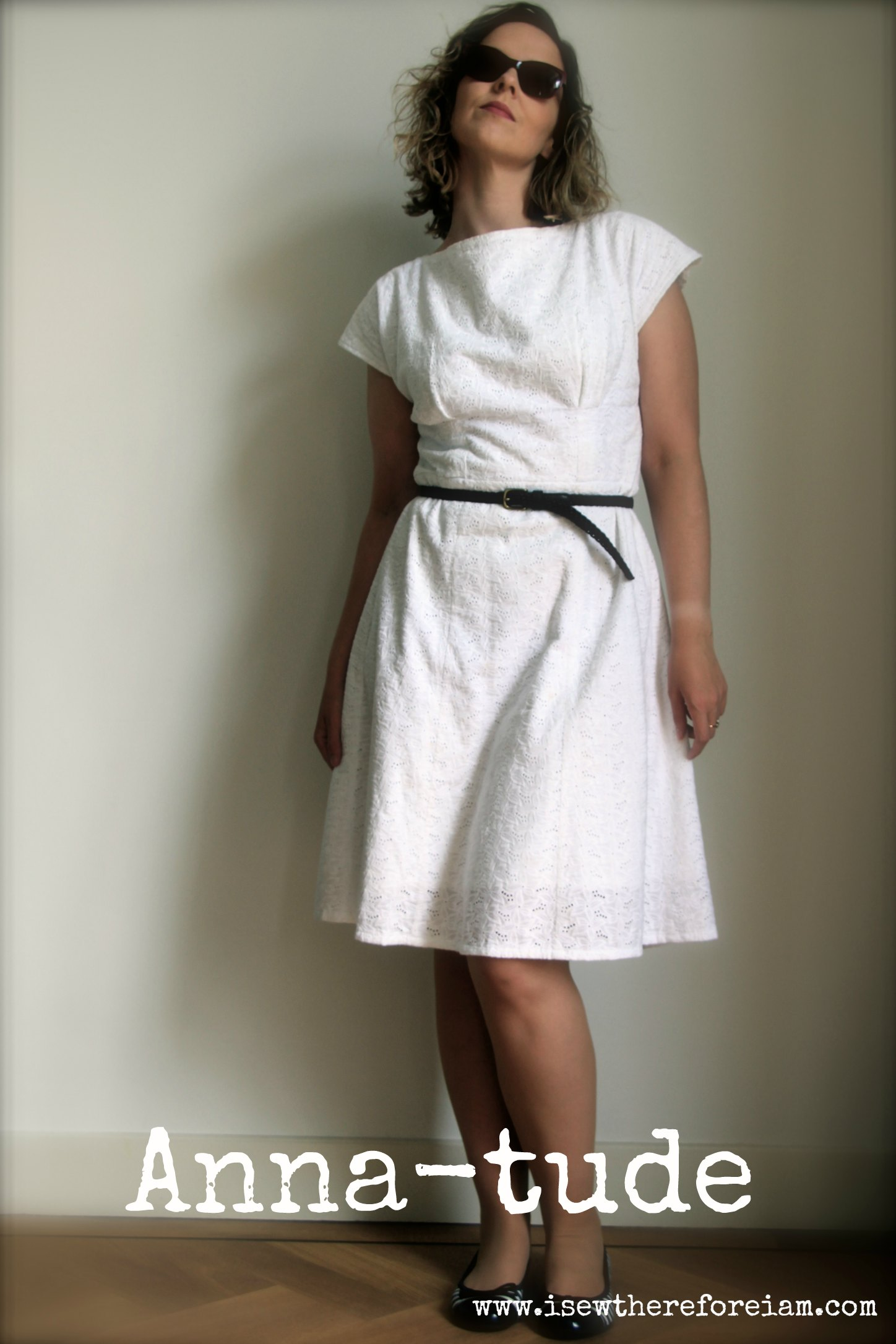 By Hand Anna dress in white broderie anglaise is a classic summer dress