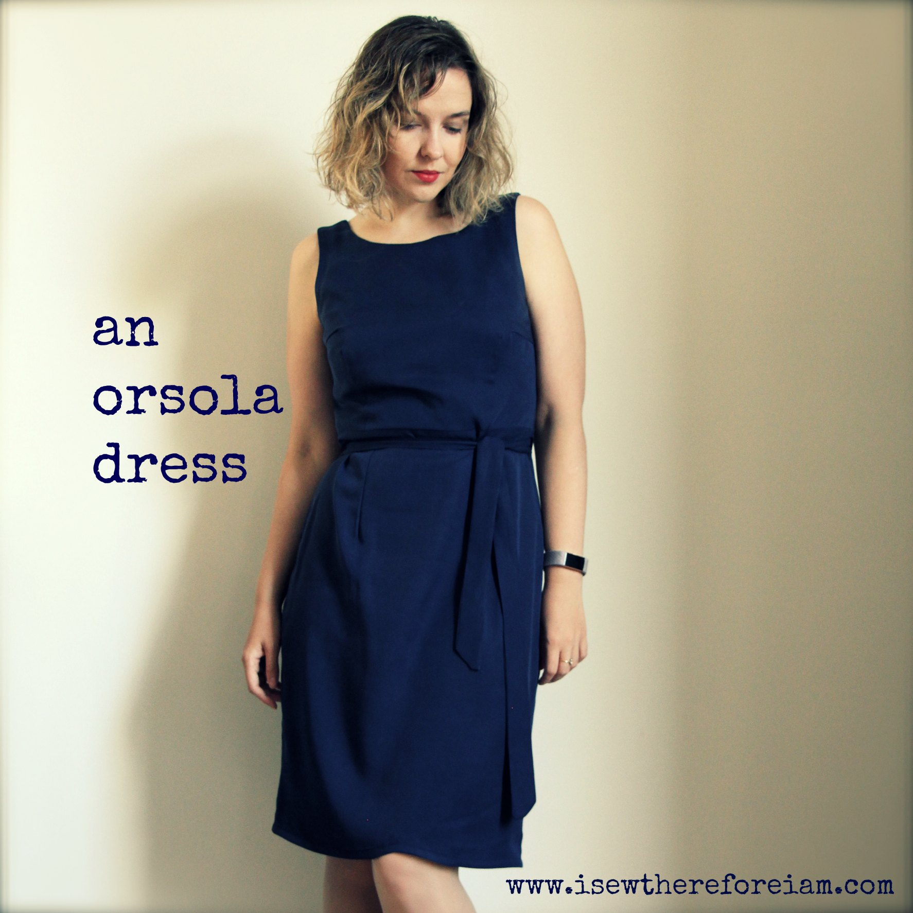 Another winning pattern from By Hand London, the Orsola dress and skirt, made up here in navy tencel
