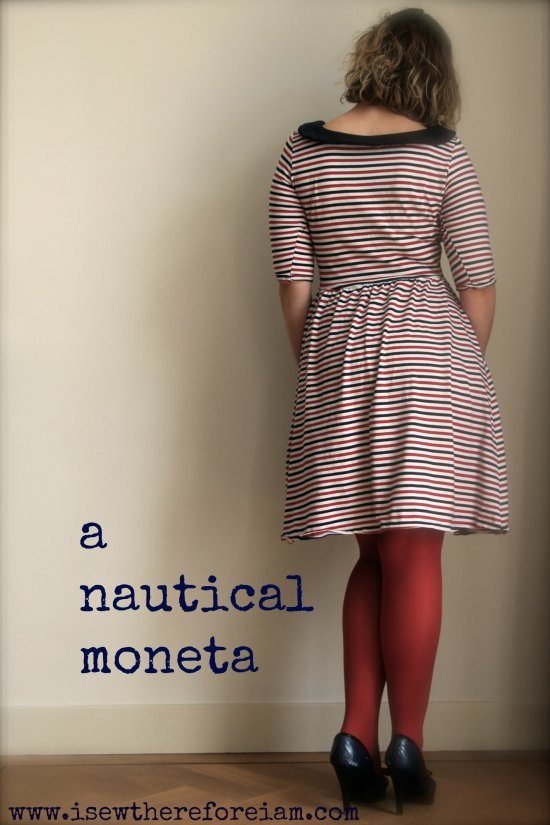 Colette Moneta knit dress - so comfortable and easy to sew