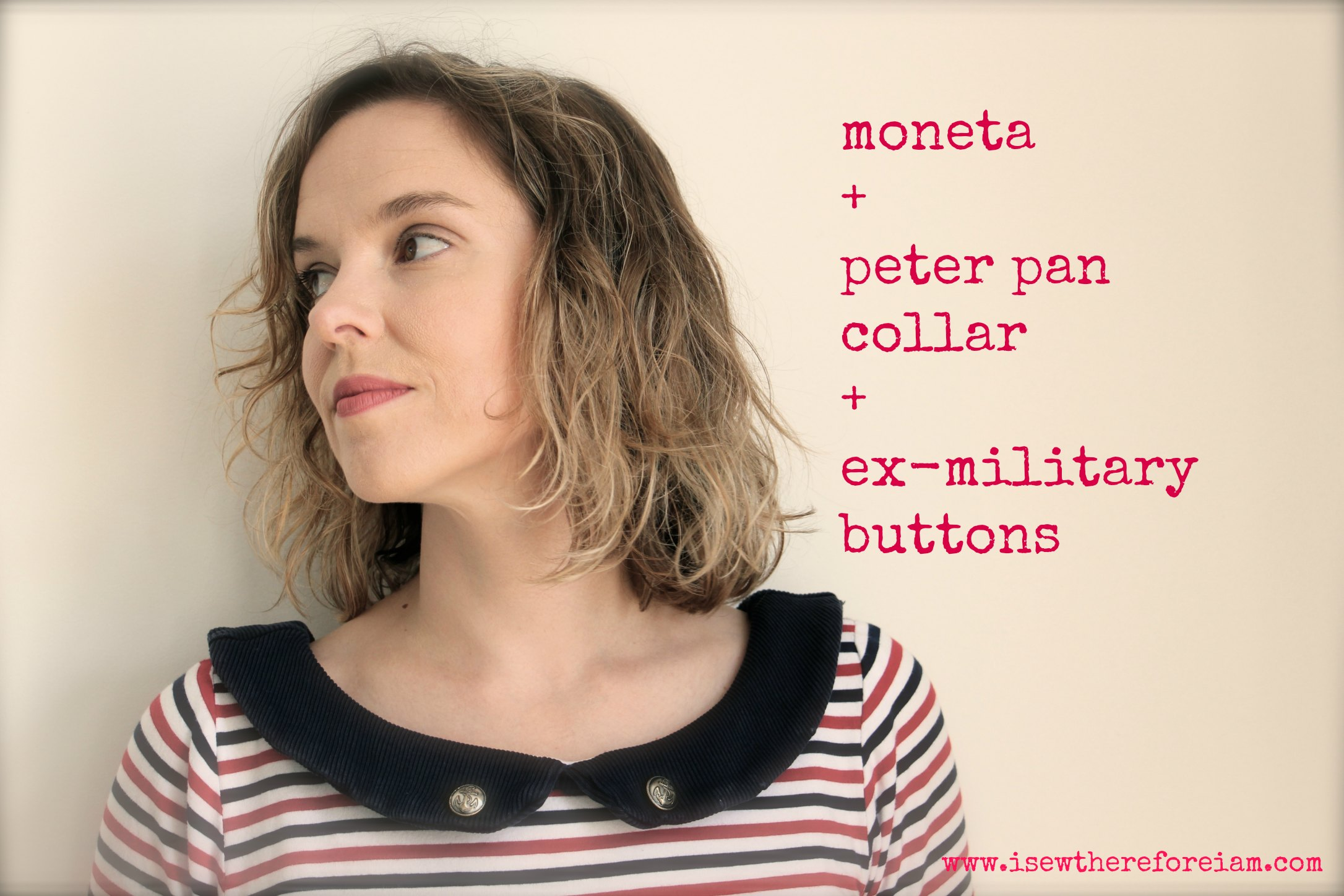 Colette Moneta with Peter Pan collar