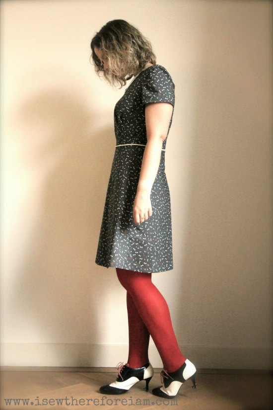 "The Laneway dress by Jennifer Lauren Handmade in Atelier Brunette ""like a dandy"" cotton"