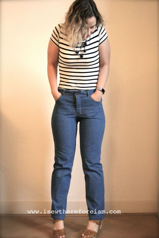 My first ever pair of Ginger Jeans! These are the mid-rise version with the stovepipe leg