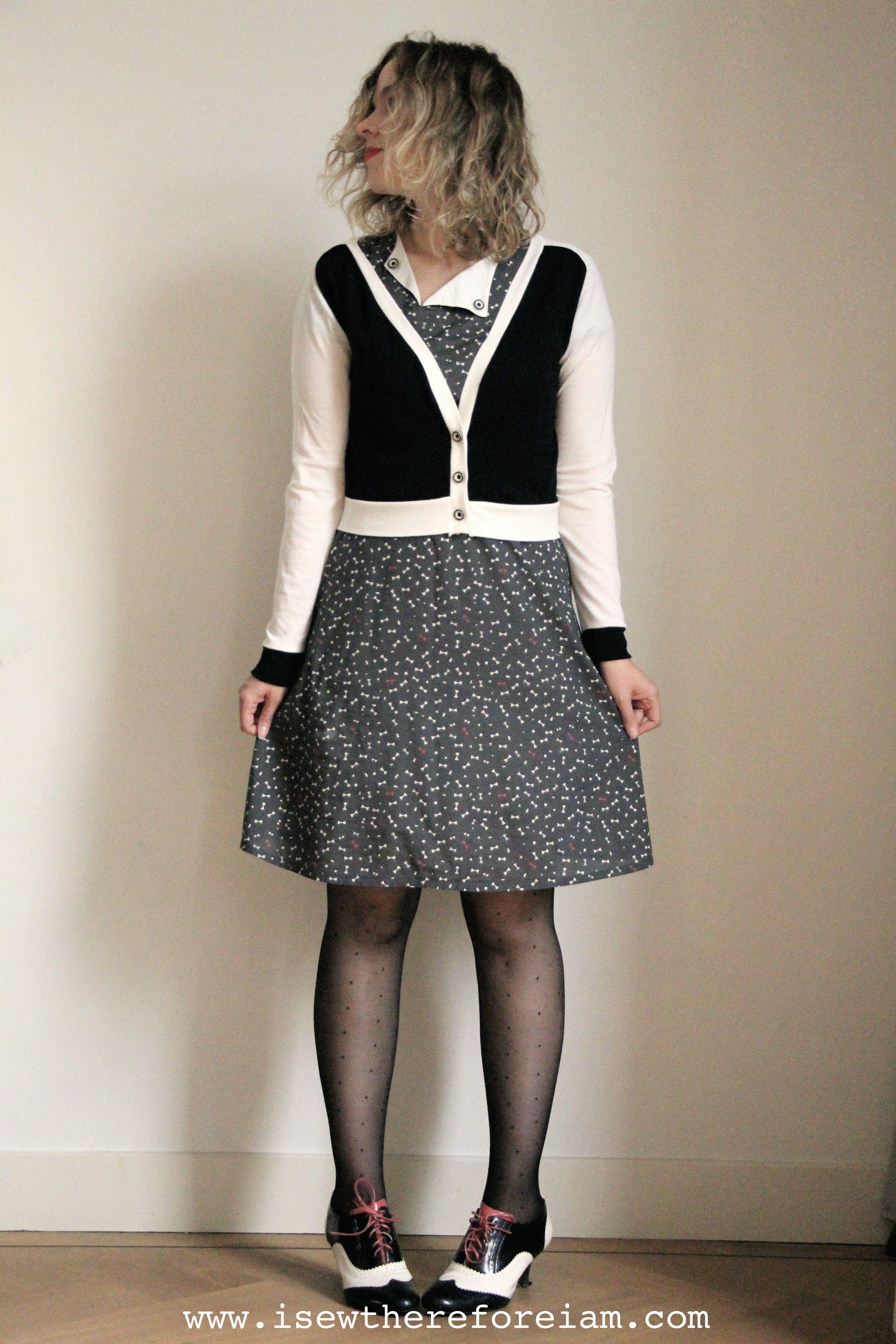 Juniper Cardigan by Jennifer Lauren in merino jersey from The Fabric Store