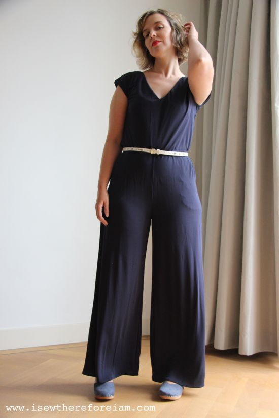 ef09affb79b Sallie Jumpsuit by Closet Case Patterns in rayon jersey from The Fabric  Store