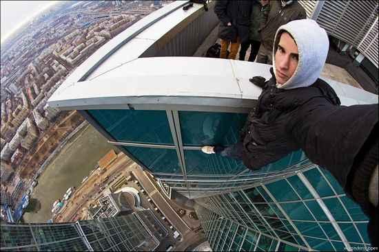 yüksekte selfie