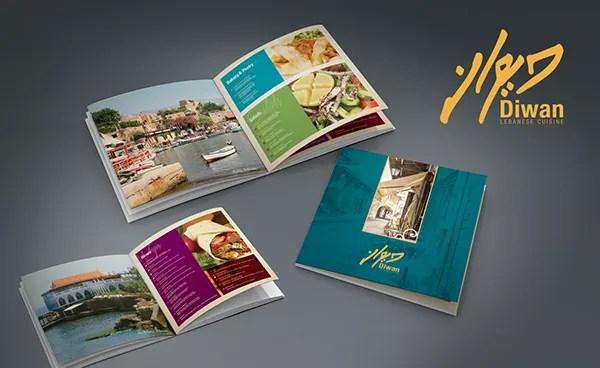 Labanise cusine arabic restaurant logo and manu design