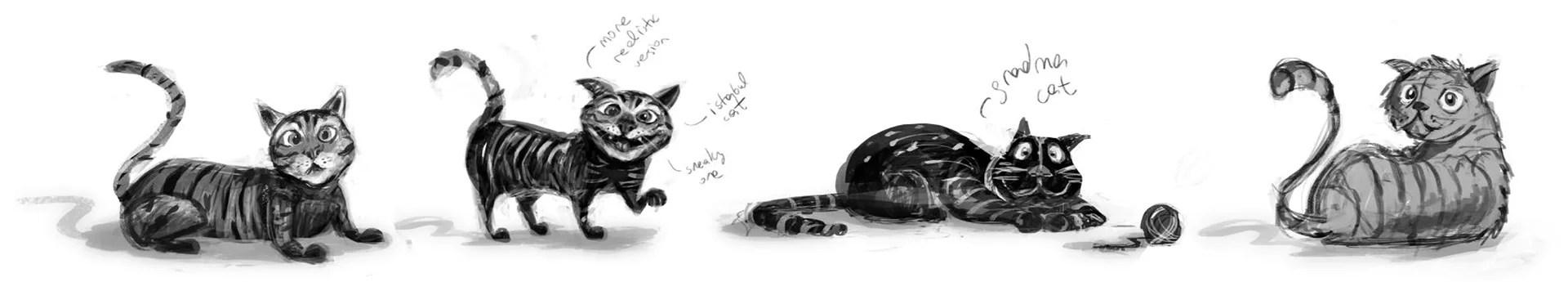 cute cat dog illustration
