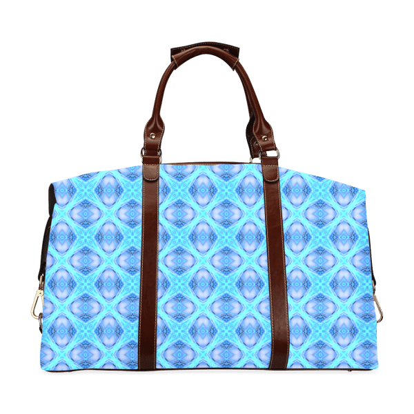 Abstract Circles Arches Lattice Aqua Blue Classic Travel Bag (Model 1643)