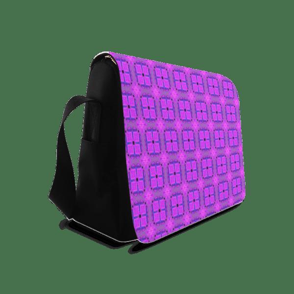 Abstract Dancing Diamonds Purple Violet | Messenger Bag