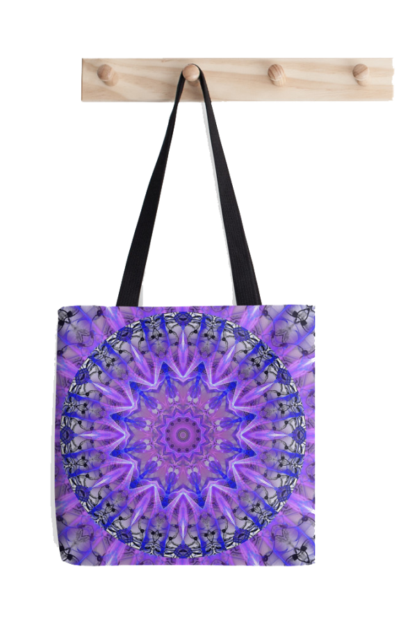 Abstract Plum Ice Crystal Palace Lattice Lace Tote