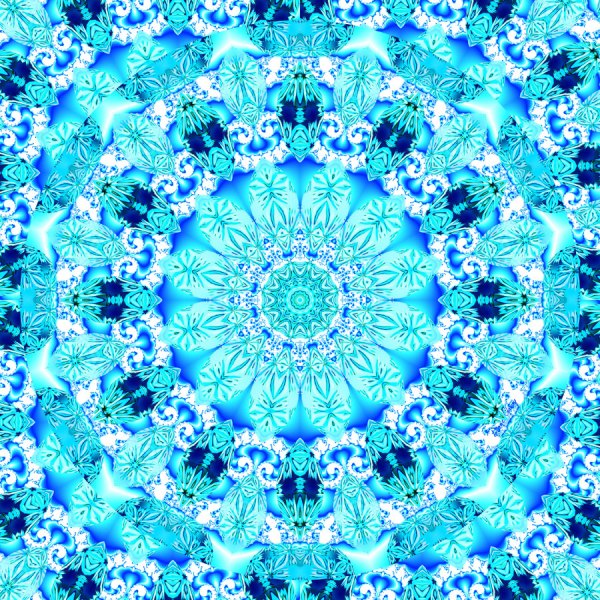 Aqua Lace Mandala, Delicate, Abstract Blue | Wrapping Paper | Original