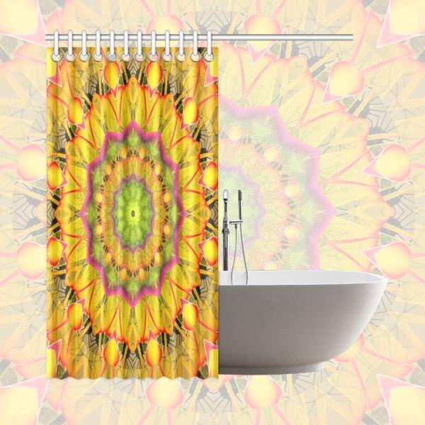 "Beach Grass Golden Red Foliage Abstract Fall Days | Shower Curtain 66""x72"""