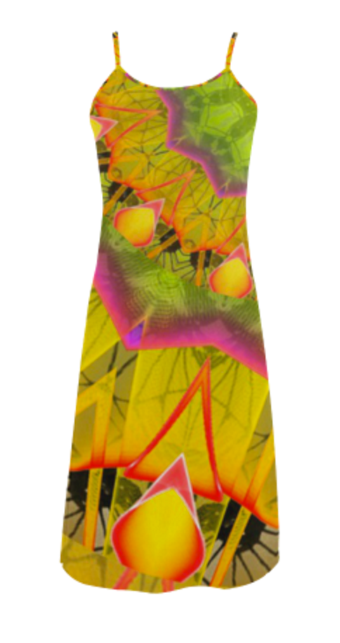 Beach Grass Golden Red Foliage Abstract Fall Days Slip Dress