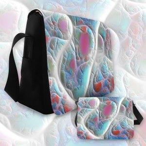 Blue & White Quilt, Abstract Delight | Messenger Bag